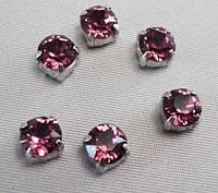 Стразы Swarovski в серебряных цапах 17704 пришивные Crystal Lilac Shadow