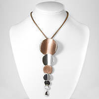 Ожерелье с Кулоном, Металл со Стразами, Цвет: Коричневый, Размер Цепочки: Длина 27см, Кулон: 124х40мм, (УТ100006380)