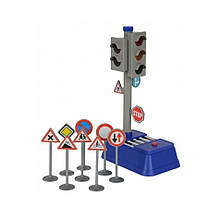 Игрушечные машинки и техника «Dickie Toys» (3741001) набор Светофор с дорожными знаками