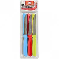 """Набор цветных ножей на блистере, 6 шт """"пилка"""" 22см"""