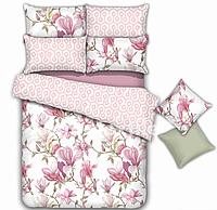 """Комплект постельного белья двуспальный, сатин """"Цветы с узорами"""""""