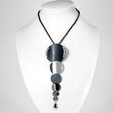 Ожерелье с Кулоном, Металл со Стразами, Цвет: Черный, Размер Цепочки: Длина 27см, Кулон: 124х40мм, (УТ100006464)