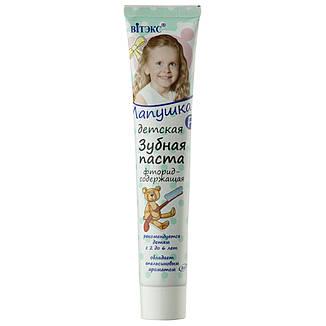 Витэкс - Лапушка Зубная паста Детская фторсодержащая 85г, фото 2