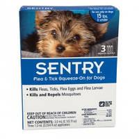 Капли от блох, клещей и комаров SENTRY Сентри для собак весом до 7кг