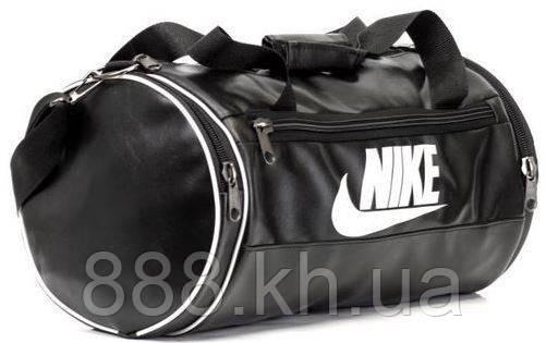 5cb2b68e90ee Кожаная сумка бочка Nike черный, спортивная сумка для тренировок реплика -  P A N D A в Харькове