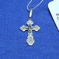 Нательный крестик из серебра Защитник пс-234