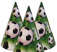 Колпачки праздничные карнавальные Футбол 16 см