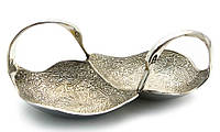 "Менажница ""Лебеди"" хром (18,5х7,5х9 см)"