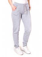 Спортивные брюки женские, весенние, серые, трикотаж двунитка