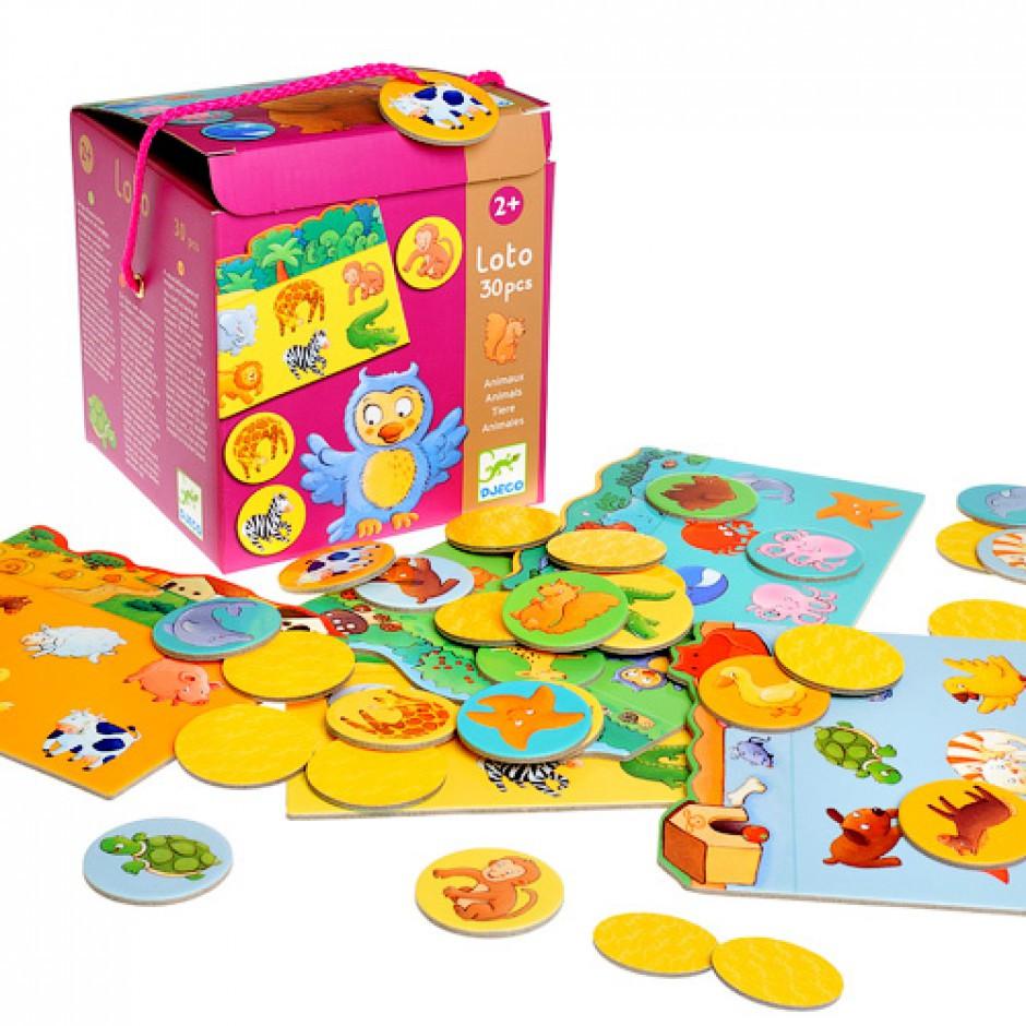 Игра детское лото Djeco «Животные» (DJ08120)