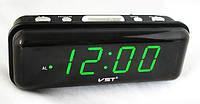 Часы электронные сетевые VST-738  ярко-зеленые