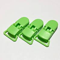Клипса пластиковая для пустышки, зеленая