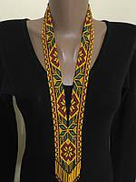 Гердан намисто з бісеру в етно стилі ручної роботи, фото 1