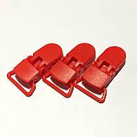 Клипса пластиковая для пустышки, красная