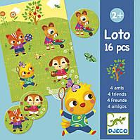 Детское лото 4 друзей Djeco (DJ08124)