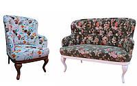 """Классический мягкий комплект: диван с креслом """"Соло"""" (2+1)"""