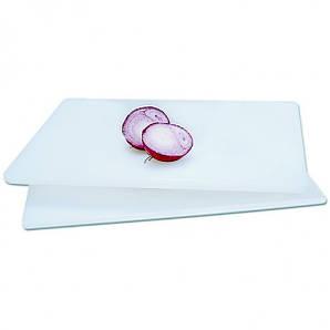 Доска разделочная полиэтиленовая 60х45х2 см. прямоугольная, белая Winco