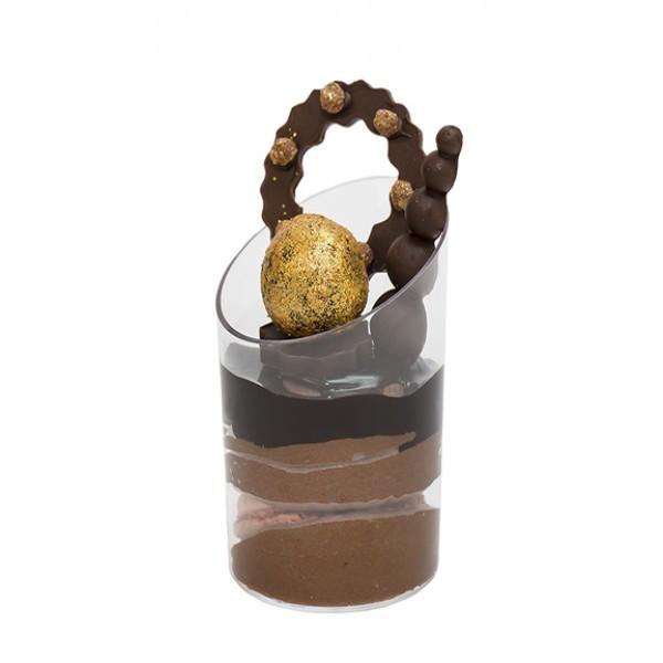"""Пиала-форма фуршетная круглая 50 мл., 4,3х6,4 см., 10 шт/уп стеклоподобная, прозрачная """"Цилиндр"""""""