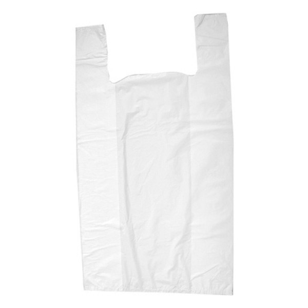 Пакеты майка 24х42 см., 100 шт/уп белые полиэтилен (97135)