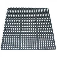 Коврик напольный кухонный резиновый 91,5х91,5 см. черный