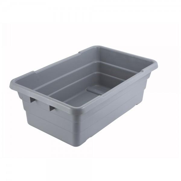 Контейнер пластиковый этажерочный 65х40х20 см. серый