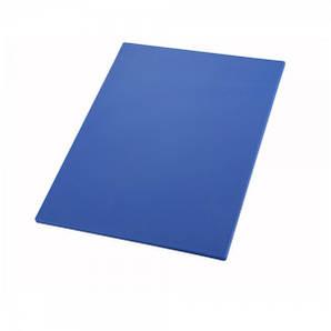 Доска разделочная пластиковая 60х45х1,25 см. прямоугольная, синяя Winco