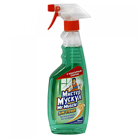 Средство для мытья стекол с распылителем (зеленый),500 мл Мистер Мускул