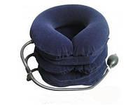 Лечебный воротник с системой пневматического вытяжения  (синий 3-ходов.), фото 1