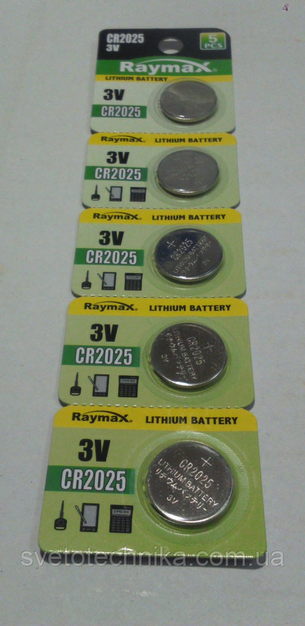 Батарейка (5шт.) Raymax литиевая CR2025