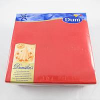 Салфетка бумажная 40х40 см., 50 шт/уп красная Duni