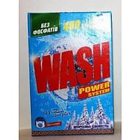 Порошок стиральный для ручной стирки Морозная Свежесть 450 г Wash