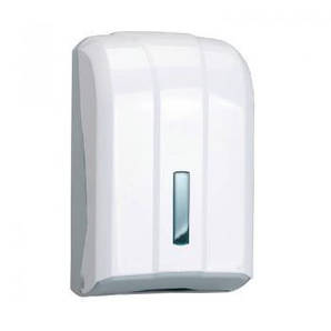 Диспенсер для листовой туалетной бумаги белый, SafePro