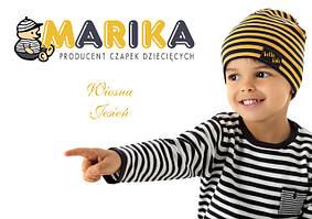 Детские весенние шапки для мальчиков и девочек Marika, Польша