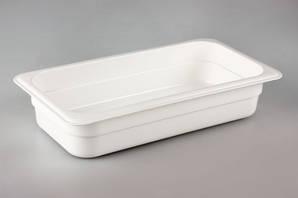 Гастроемкость GN 1/3-65 мм. фарфоровая белая