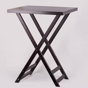 Триджек темно-коричневый со съемной крышкой 80 см, деревянный (Стенд для подносов официанта)