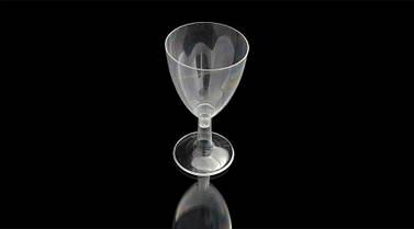 Бокал для вина стеклоподобный 200 мл. 90 шт/уп на съемной ножке