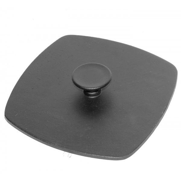 Пресс крышка чугунная 21х21 см. для квадратной сковородки
