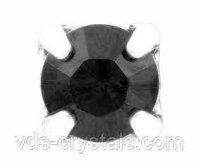 Кристаллы Swarovski в серебряных цапах 17704 Graphite