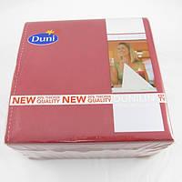 Салфетка бумажная 40х40 см., 50 шт/уп бордовая Duni