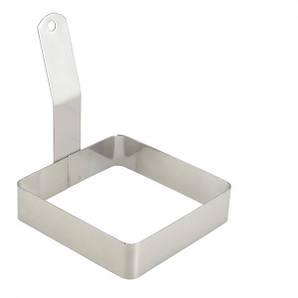 Форма для жарки яиц нержавеющая сталь квадратная 10 х 10 х 2,5 см.