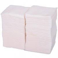 Салфетки бумажные, белые 24х24 см