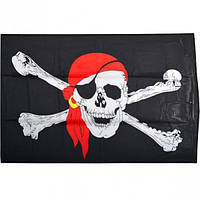 "Флаг ""Пират"" большой на завязках"