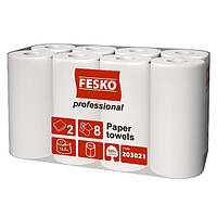 Полотенце бумажное FESKO Professional 8 рулона/уп