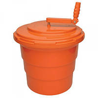 Ведро для сушки зелени пластиковое 18 л. оранжевое
