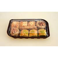 Контейнер для суши из полистирола с крышкой IT - 130 110х210 мм 650 мл 400 шт/ящ