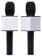 Микрофон Караоке со встроенным динамиком Tuxun Q7 (Беспроводной / Bluetooth) Черный, фото 1
