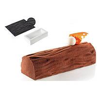 Форма силиконовая Kit Buche Wood TOR250x90 Buche + TEX01 WOOD (250 x 90, h 70 мм.)