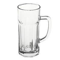 Бокал для пива 510 мл. с ручкой, стеклянный Casablanka, Pasabahce