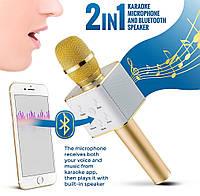 ОРИГИНАЛ! Микрофон караоке с колонками Tuxun Q7 Блютуз, Беспроводной. Лучший детский подарок, фото 1