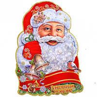 Плакат лицо Деда Мороза укр. 5309-1